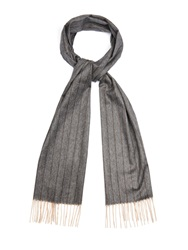 Colombo Striped Cashmere And Silk Blend Scarf