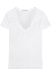 James Perse Casual Slub Cotton T Shirt