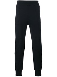 Dries Van Noten Gathered Ankle Track Pants Blue