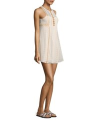 Free People Wherever You Go A Line Mini Dress Ivory