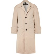 Burberry Runway Oversized Cotton Gabardine Trench Coat Taupe