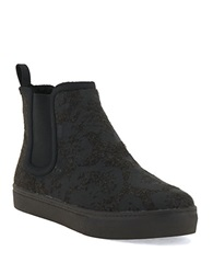 Elliott Lucca Palmira Felt And Faux Shearling Lined Ankle Boots Slate