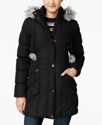 American Rag Faux Fur Trim Puffer Coat Only At Macy's Black
