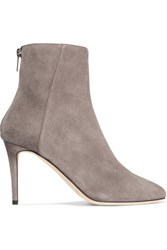 Jimmy Choo Duke Suede Ankle Boots Light Gray