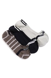 Sperry Men's Signature Assorted 3 Pack Invisible Socks Charcoal High Rise
