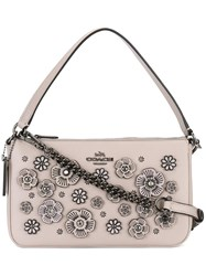 Coach Floral Embellished Tote Nude Neutrals