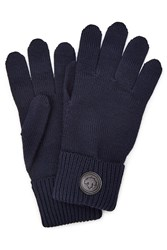 Dsquared2 Wool Gloves Blue