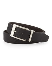 English Laundry Reversible Pebbled Leather Belt Black Brown