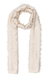 Chloe Fil Coupe Stripe Scarf In White