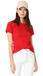 Liana Clothing Height Velvet Tee Red With Champagne Glitter