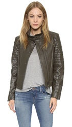 J Brand Marshal Leather Jacket Camo
