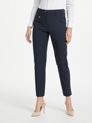 Gardeur Dina Slim Cropped Trousers Navy