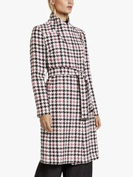 Ted Baker Abellaa Houndstooth Belted Coat White