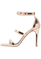 Miss Selfridge Cait Sandals Metallic Rose Gold