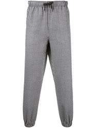 Alexander Wang Patched Houndstooth Trousers Black