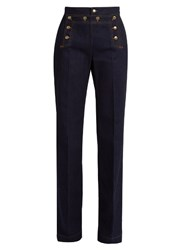 Red Valentino High Rise Wide Leg Jeans Indigo