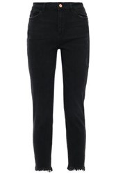 Dl1961 Woman Montgomery Distressed High Rise Skinny Jeans Black