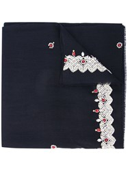 Janavi Jewel Embellished Scarf Blue