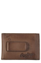 Rawlings Sports Accessories Men's Legacy Leather Card Case With Money Clip Brown