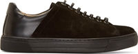Damir Doma Black Suede And Leather Lace Up Sneakers