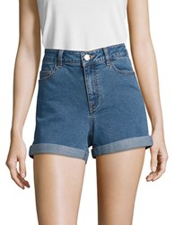 Noisy May Stretch Denim Shorts Blue