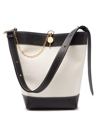 J.W.Anderson Jw Anderson Keyts Leather And Canvas Tote Bag Beige Multi