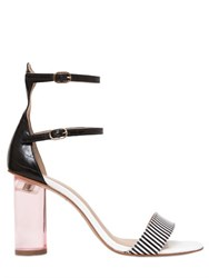 Kurt Geiger 100Mm Izzy Striped Leather Sandals