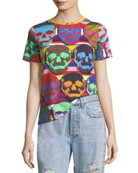 Libertine Short Sleeve Multicolor Skull Print T Shirt
