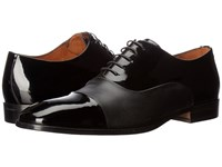 Massimo Matteo Patent Leather Formal Bal Black Black Men's Shoes