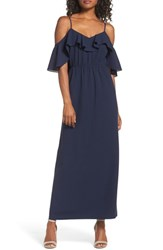 Ali And Jay Love Story Cold Shoulder Maxi Dress Navy