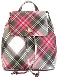 Vivienne Westwood Checked Backpack Red