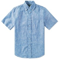 Gitman Brothers Vintage Short Sleeve Linen Chambray Shirt Blue