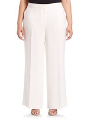 Lafayette 148 New York Plus Size Finesse Crepe Kenmare Wide Leg Pants