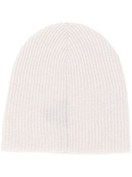 Roberto Collina Cashmere Knitted Beanie Nude And Neutrals