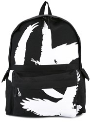 Ann Demeulemeester Bird Print Backpack Black
