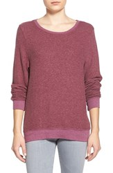 Wildfox Couture Women's Wildfox 'Baggy Beach Jumper' Pullover Bordeaux