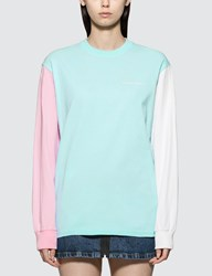Have A Good Time Color Block Long Sleeve T Shirt