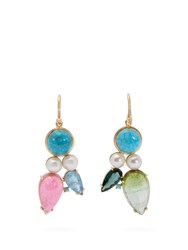 Irene Neuwirth 18Kt Gold And Multi Stone Mismatched Earrings