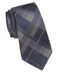 Vince Camuto Milan Plaid Silk Tie Purple