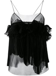 Rochas Pleated Cami Women Silk Polyamide 42 Black