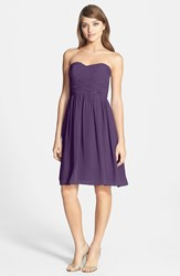 Women's Donna Morgan 'Sarah' Strapless Ruched Chiffon Dress Amethyst