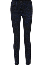 Proenza Schouler Printed Twill Mid Rise Skinny Pants