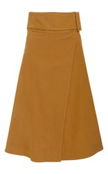 Sea Belted A Line Wrap Skirt Brown