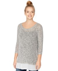 Motherhood Maternity Layered Look Sweatshirt Grey