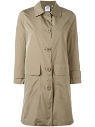 Aspesi Button Up Oversized Coat Nude Neutrals