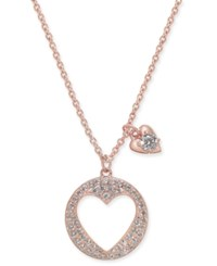 Danori Pave Heart Pendant Necklace 16 2 Extender Created For Macy's Rose Gold