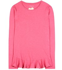 81 Hours Nella Long Sleeve Cotton Top Pink