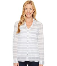 Columbia Early Tide Long Sleeve Shirt Nocturnal Stripe Women's Long Sleeve Pullover Brown