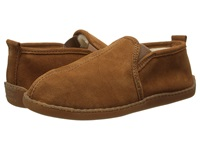 Minnetonka Pile Lined Romeo Slipper Brown Suede Men's Shoes