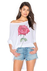 Lauren Moshi Kayla Long Sleeve Top White